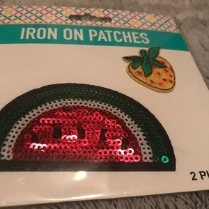 Accessories - Iron on sequin patches fruit watermelon strawberry